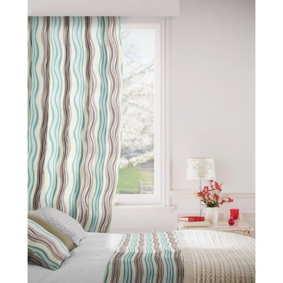 Twist 713 Mink Duck Egg Fire Resistant Curtains
