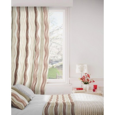 Twist 800 Beige Fire Resistant Curtains