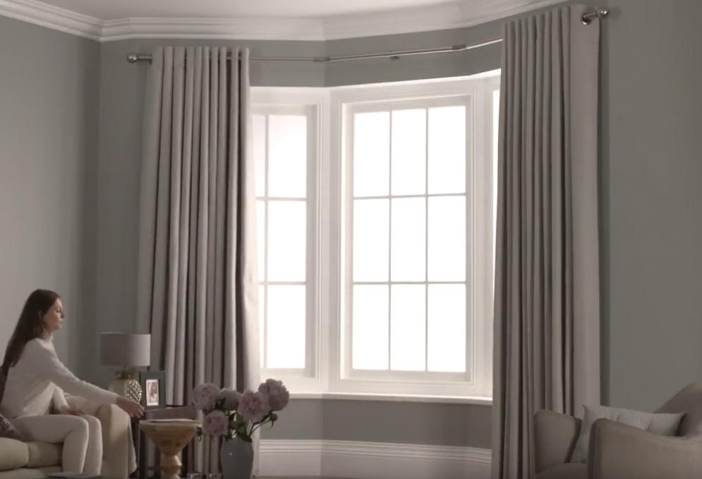 Eyelet 3 Sided Bay Curtain Pole Direct Fabrics