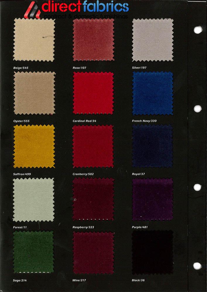 Velvet Curtain Fabric Direct Fabrics