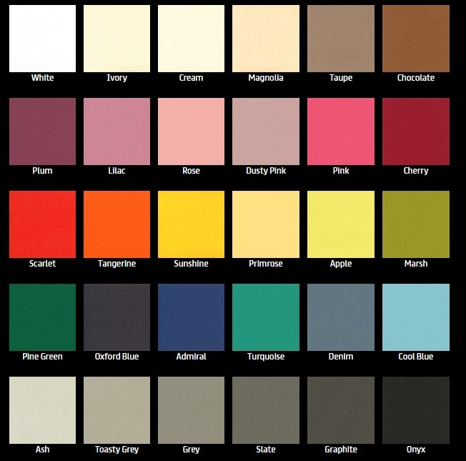 30 Colours Cassette Roller blinds