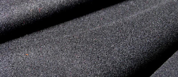 Black Wool Serge Curtain Fabric Flame Retardant Direct