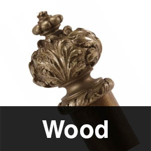 wood curtain poles
