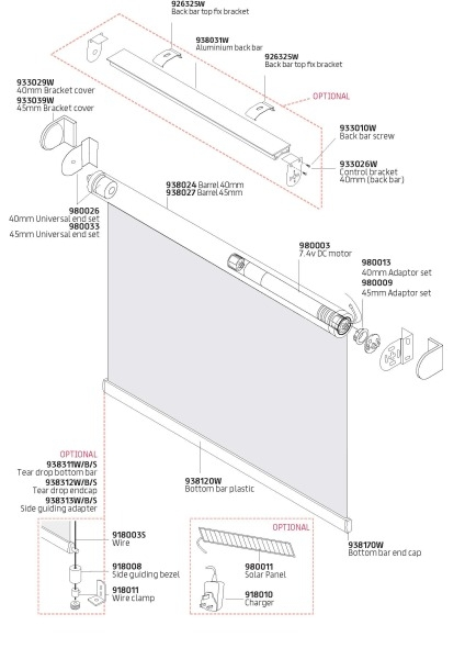 Electric Roller Blind Components