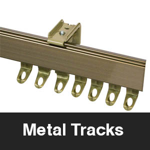 metal curtain tracks