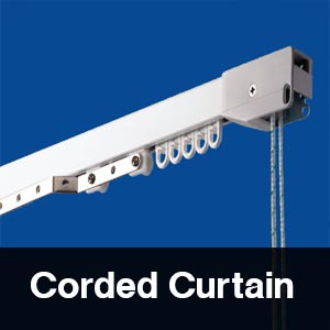corded curtain tracks