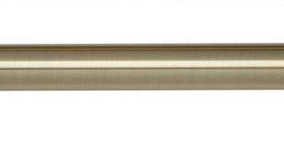 Spun Brass Effect Curtain Pole