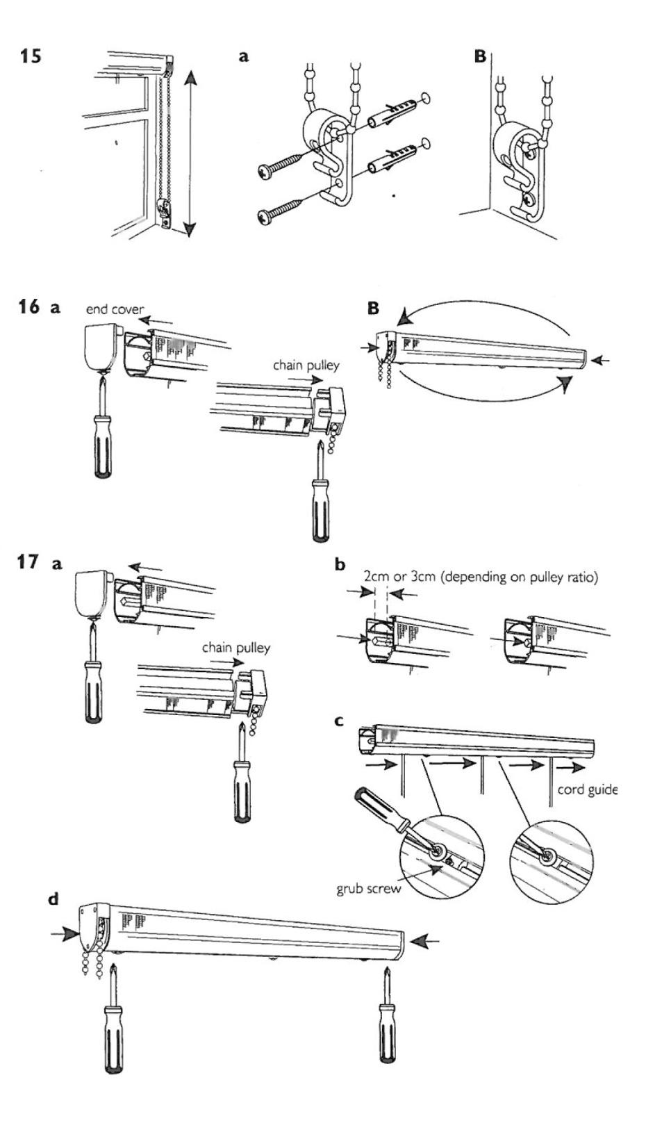installing roman blind kits