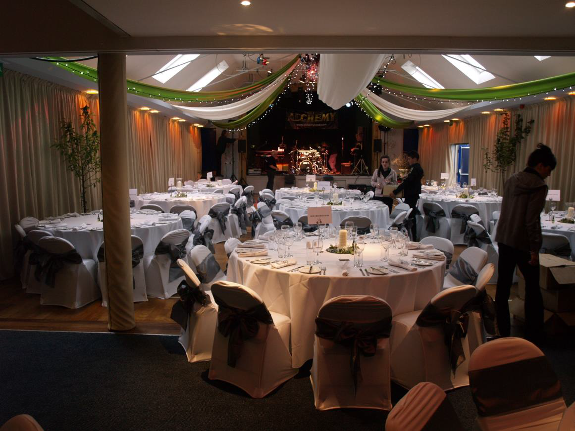 Village Hall Curtains for Wedding Receptions