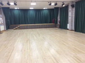 Village Hall - Long Curtains & Stage