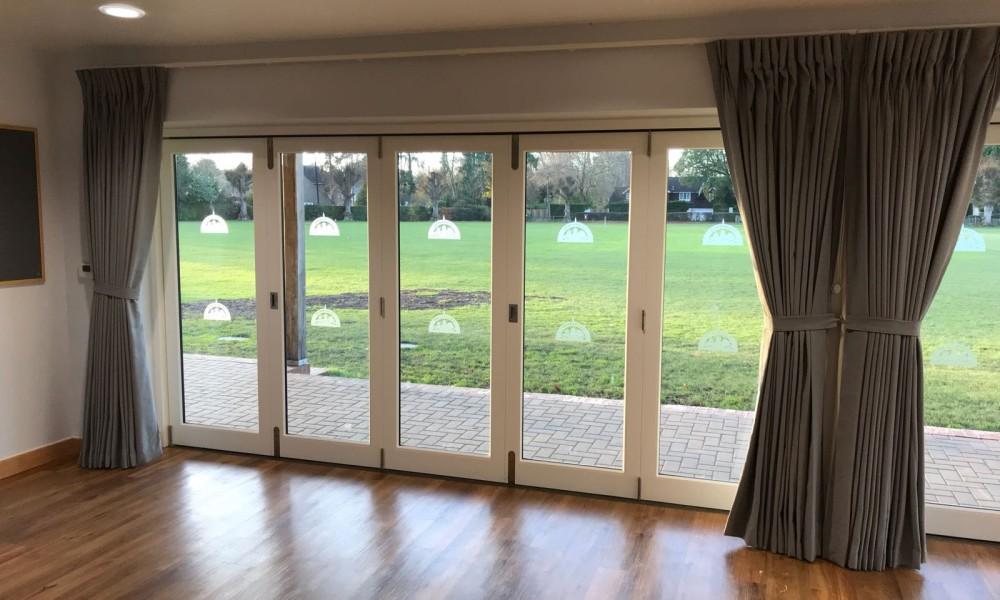 Village Hall Bifold Door Curtains