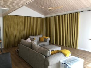Electric Curtain Track with Wave Headed Curtains