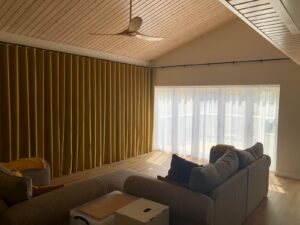 Full Length Large Curtains on Electric Curtain Track
